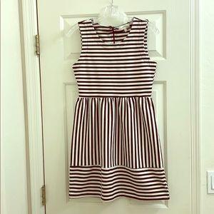 Monteau striped dress size Med